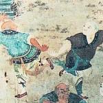 Boxeo de Shaolin, pintura de la dinastía Ming