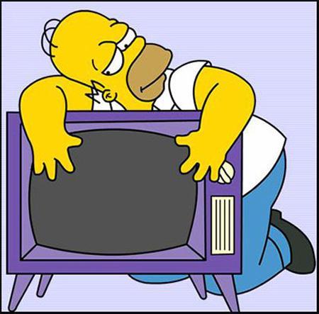 Homero adicto a la tv